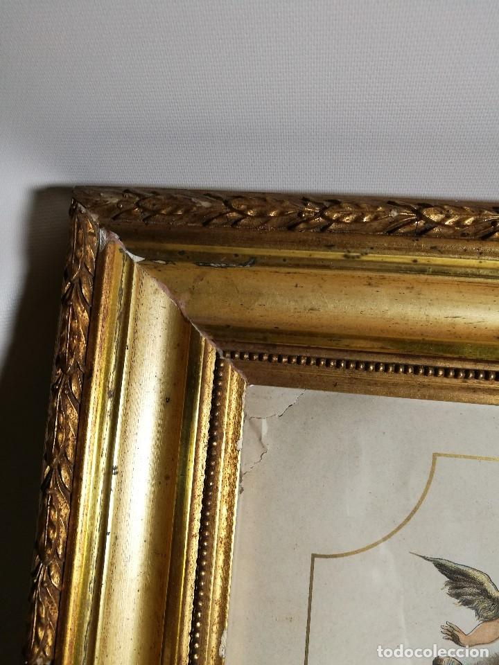 Arte: Litografía iluminada precioso marco de madera 8 enero 1897 - Reus - Ntra Sra de la Misericordia - Foto 17 - 162391166