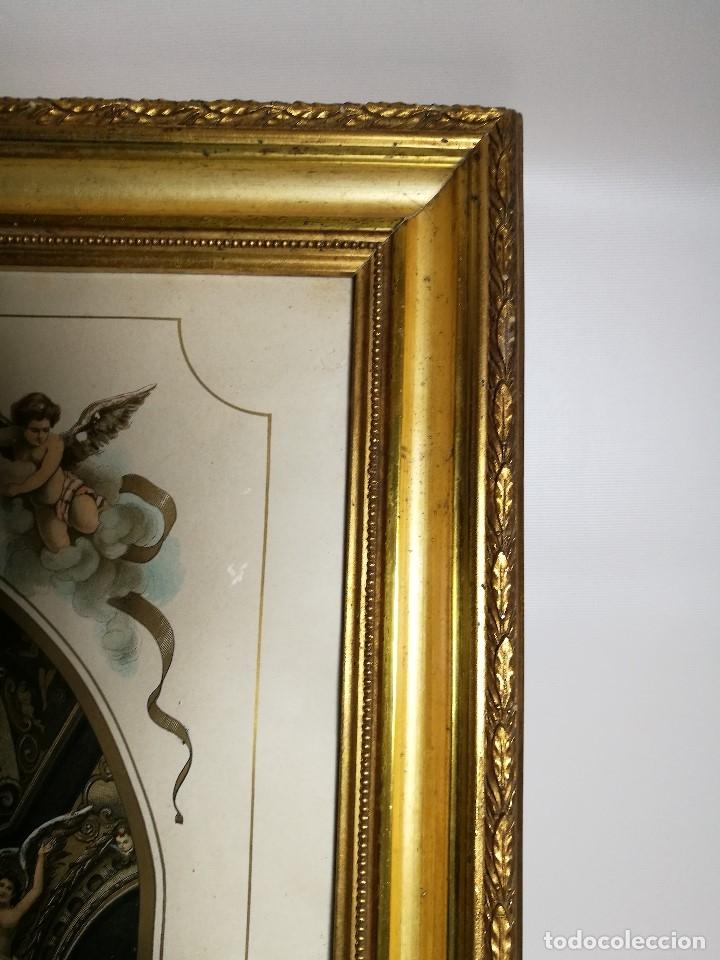 Arte: Litografía iluminada precioso marco de madera 8 enero 1897 - Reus - Ntra Sra de la Misericordia - Foto 23 - 162391166