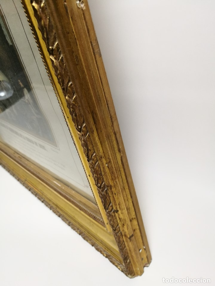 Arte: Litografía iluminada precioso marco de madera 8 enero 1897 - Reus - Ntra Sra de la Misericordia - Foto 47 - 162391166