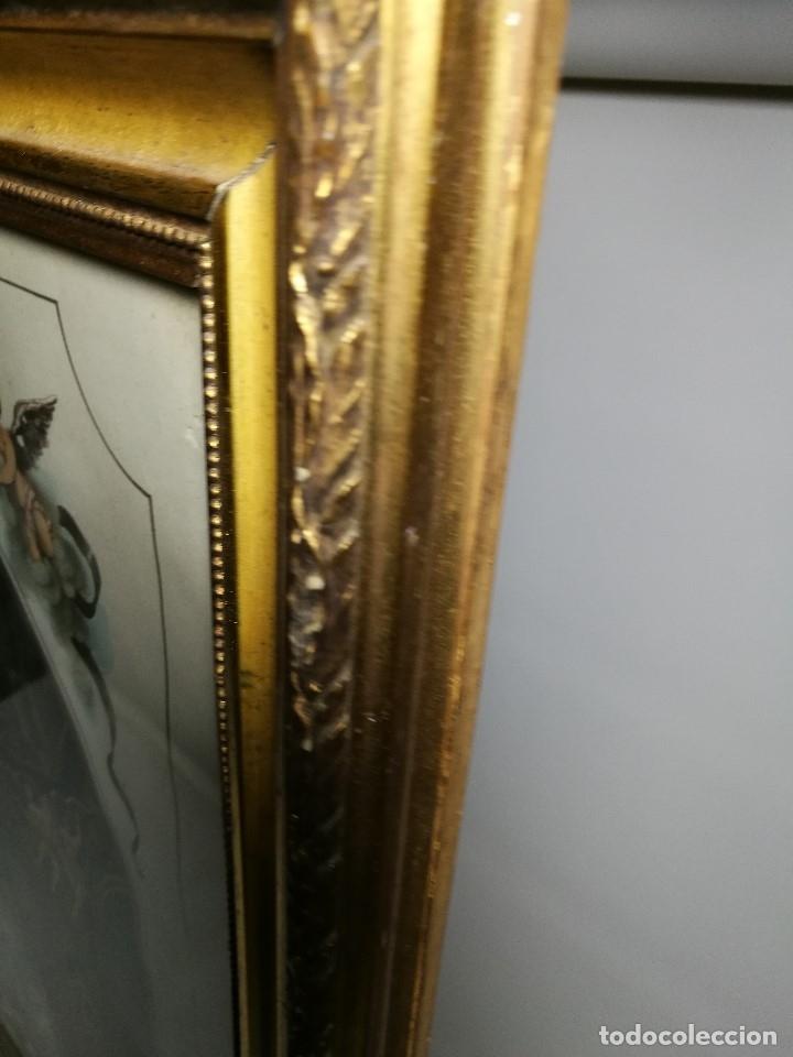 Arte: Litografía iluminada precioso marco de madera 8 enero 1897 - Reus - Ntra Sra de la Misericordia - Foto 49 - 162391166
