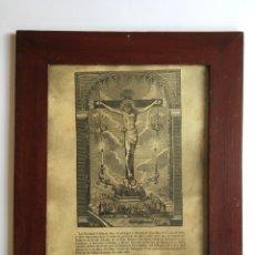 Arte: ANTIGUO GRABADO O LITOGRAFÍA DEL SANTO CRISTO DE BALAGUER - LLEIDA - 1859. Lote 162619529