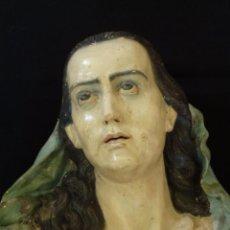 Arte: DOLOROSA. ESC. ANDALUZA. ESCULTURA EN BARRO COCIDO DE TAMAÑO NATURAL, OBRA DE JOAQUÍN MORENO DAZA.. Lote 162643182