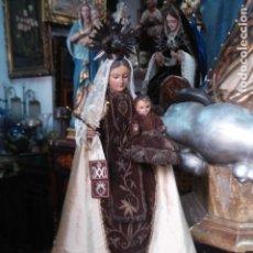 Arte - Cap i Pota SXIX talla de madera policromada Virgen del Carmen - 162662878