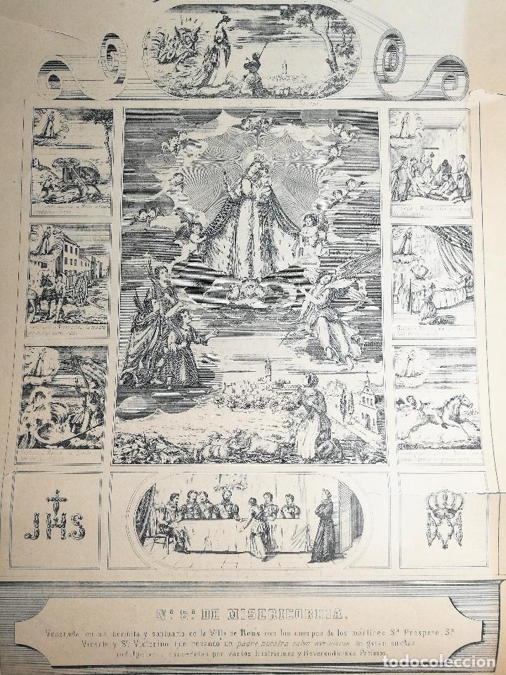 GRABADO PRINCIPIOS XX NUESTRA SEÑORA DE MISERICORDIA REUS (Arte - Arte Religioso - Grabados)