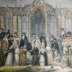 Arte: GRABADO ILUMINADO VESTUARIO RELIGIOSO EN FRANCIA DESDE SIGLO XI AL XVIII... Lote 162783514