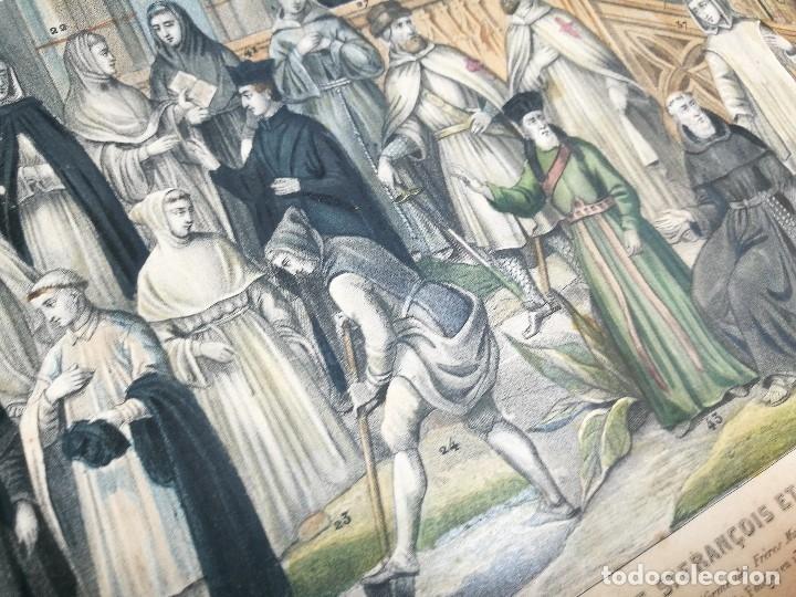 Arte: grabado ILUMINADO vestuario religioso en francia desde siglo XI al XVIII.. - Foto 4 - 162783514