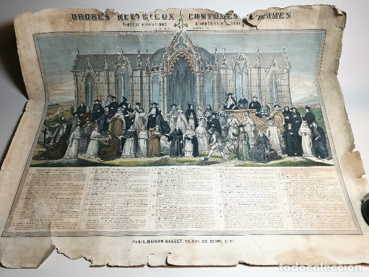 Arte: grabado ILUMINADO vestuario religioso en francia desde siglo XI al XVIII.. - Foto 2 - 162783514