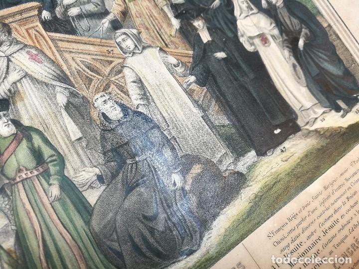 Arte: grabado ILUMINADO vestuario religioso en francia desde siglo XI al XVIII.. - Foto 5 - 162783514