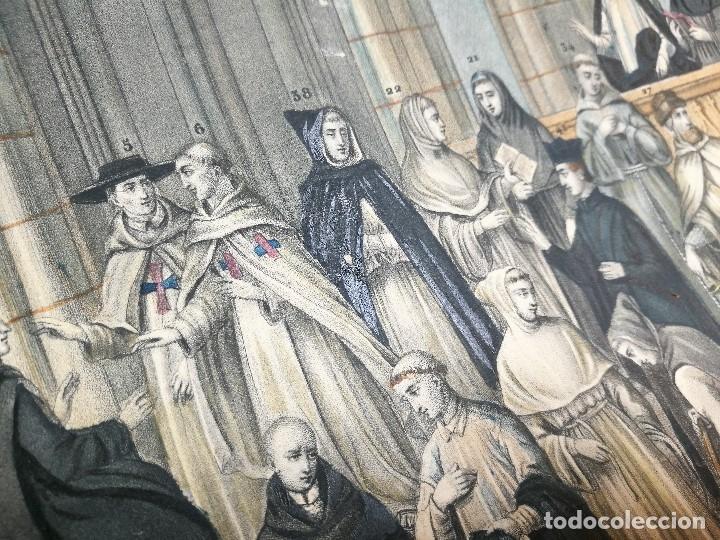 Arte: grabado ILUMINADO vestuario religioso en francia desde siglo XI al XVIII.. - Foto 7 - 162783514