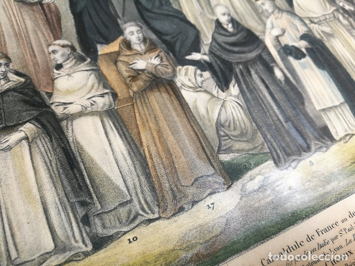 Arte: grabado ILUMINADO vestuario religioso en francia desde siglo XI al XVIII.. - Foto 8 - 162783514
