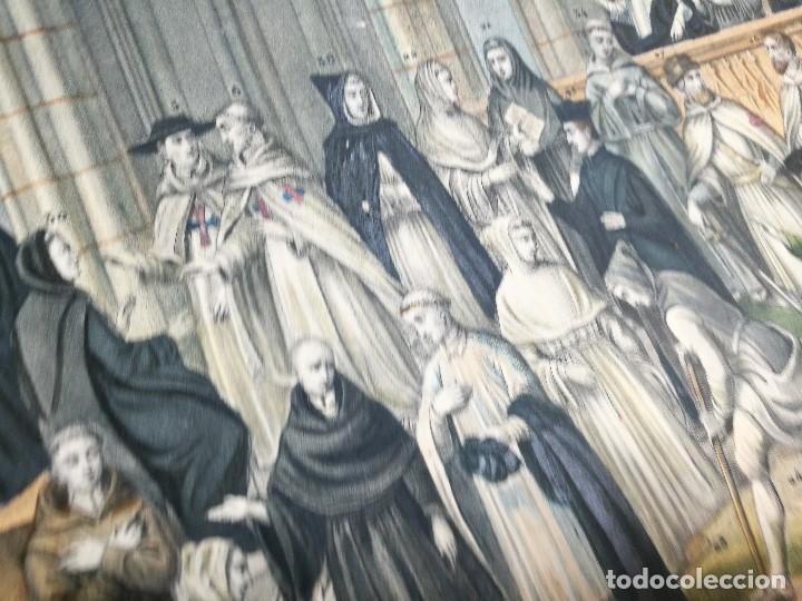 Arte: grabado ILUMINADO vestuario religioso en francia desde siglo XI al XVIII.. - Foto 6 - 162783514