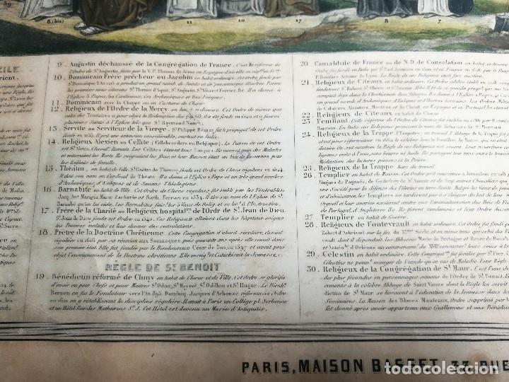 Arte: grabado ILUMINADO vestuario religioso en francia desde siglo XI al XVIII.. - Foto 10 - 162783514