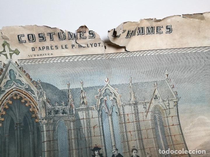 Arte: grabado ILUMINADO vestuario religioso en francia desde siglo XI al XVIII.. - Foto 13 - 162783514