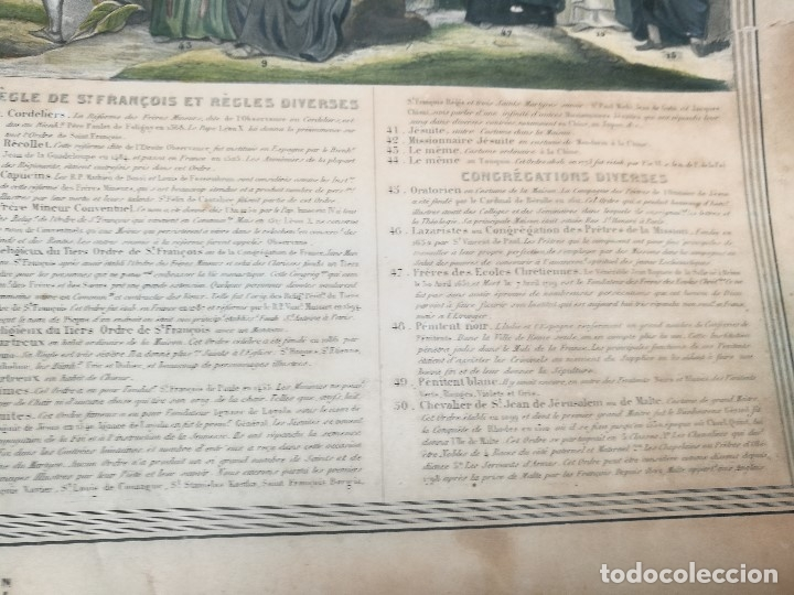 Arte: grabado ILUMINADO vestuario religioso en francia desde siglo XI al XVIII.. - Foto 12 - 162783514