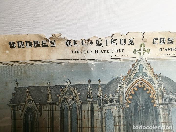 Arte: grabado ILUMINADO vestuario religioso en francia desde siglo XI al XVIII.. - Foto 14 - 162783514