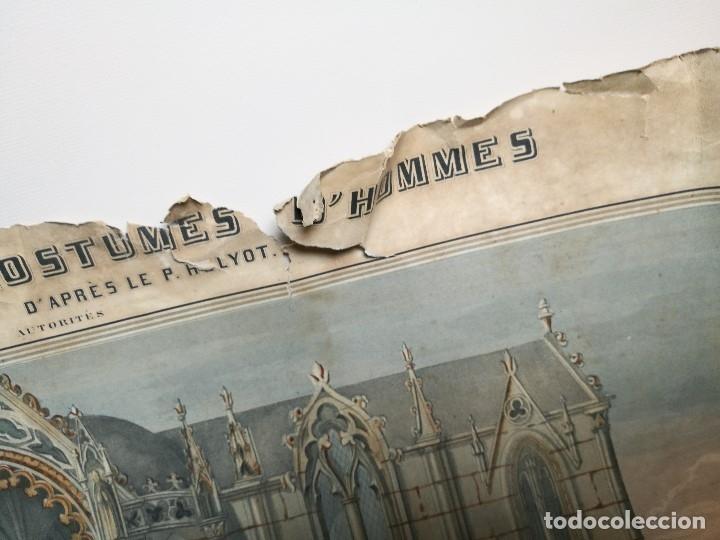 Arte: grabado ILUMINADO vestuario religioso en francia desde siglo XI al XVIII.. - Foto 17 - 162783514