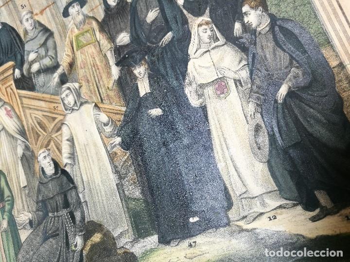 Arte: grabado ILUMINADO vestuario religioso en francia desde siglo XI al XVIII.. - Foto 18 - 162783514