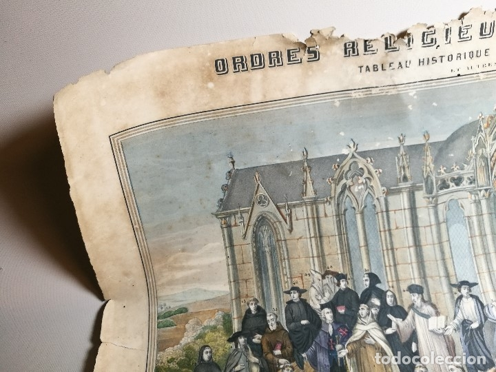 Arte: grabado ILUMINADO vestuario religioso en francia desde siglo XI al XVIII.. - Foto 20 - 162783514