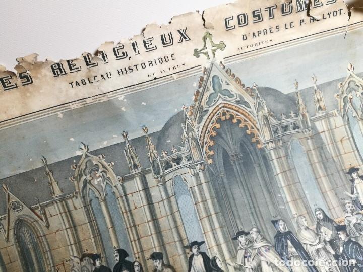 Arte: grabado ILUMINADO vestuario religioso en francia desde siglo XI al XVIII.. - Foto 19 - 162783514