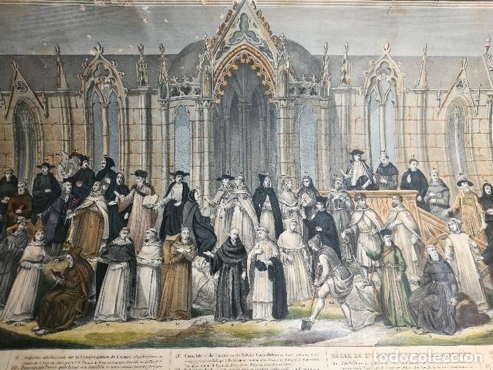 Arte: grabado ILUMINADO vestuario religioso en francia desde siglo XI al XVIII.. - Foto 26 - 162783514