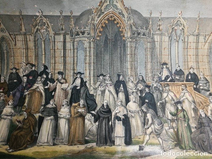 Arte: grabado ILUMINADO vestuario religioso en francia desde siglo XI al XVIII.. - Foto 25 - 162783514