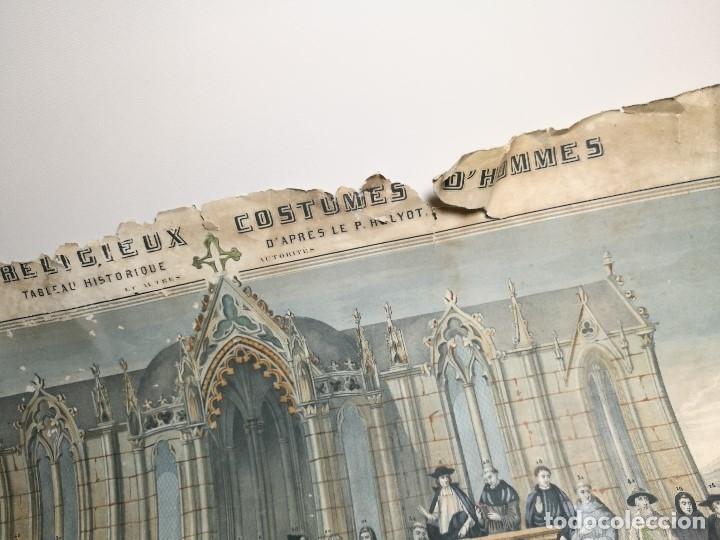 Arte: grabado ILUMINADO vestuario religioso en francia desde siglo XI al XVIII.. - Foto 30 - 162783514