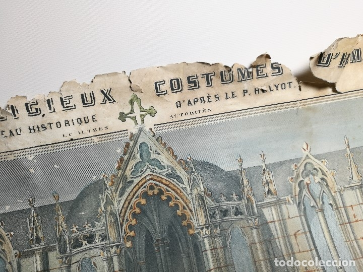 Arte: grabado ILUMINADO vestuario religioso en francia desde siglo XI al XVIII.. - Foto 29 - 162783514