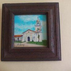 Arte: PEQUEÑO CUADRO. MISSION SANTA CRUZ.. DE LA PINTORA JOSEPHINE JO. SPRANZO. LITTLE JEWELS. Lote 162805970