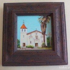 Arte: PEQUEÑO CUADRO. MISSION SANTA CLARA DE ASIS. DE LA PINTORA JOSEPHINE JO. SPRANZO. LITTLE JEWELS. Lote 162806138