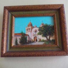 Arte: CUADRO. IGLESIA SAN CARLOS BORROMEO DE CARMELO. DE LA PINTORA JOSEPHINE JO. SPRANZO. LITTLE JEWELS. Lote 162806686