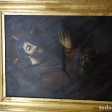 Arte: CUADRO RELIGIOSO DE CRISTO NAZARENO DE OLEO SOBRE LIENZO DEL SIGLO XIX. Lote 176161190