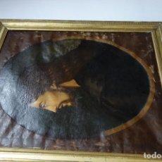 Arte: CUADRO RELIGIOSO DE CRISTO DE OLEO SOBRE LIENZO DEL SIGLO XIX FIRMADO. Lote 162865782
