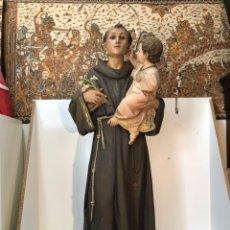 Arte: SAN ANTONIO DE PADUA GRAN TAMAÑO, SELLO ARTE CRISTIANO OLOT ANTIGUO. 142CM ALTURA.. Lote 162883374