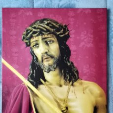 Arte: AZULEJO GRANDE DEL CRISTO CORONADO DE ESPINAS (ESTUDIANTES). Lote 163401830