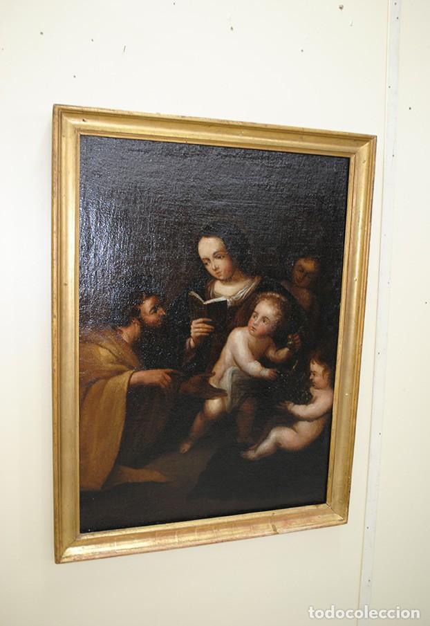ÓLEO SOBRE LIENZO SAN JOSÉ Y NIÑO SIGLO XVIII (Arte - Arte Religioso - Pintura Religiosa - Oleo)