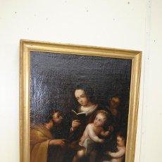 Arte: ÓLEO SOBRE LIENZO SAN JOSÉ Y NIÑO SIGLO XVIII. Lote 163482006