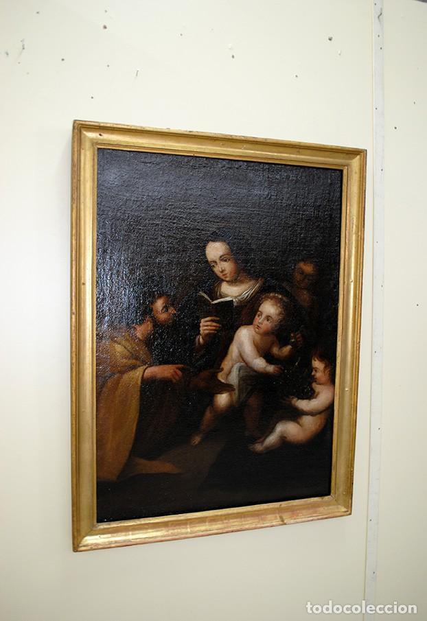 Arte: ÓLEO SOBRE LIENZO SAN JOSÉ Y NIÑO SIGLO XVIII - Foto 2 - 163482006