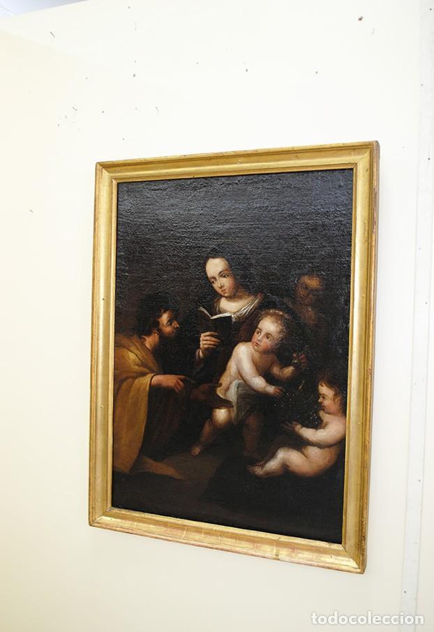 Arte: ÓLEO SOBRE LIENZO SAN JOSÉ Y NIÑO SIGLO XVIII - Foto 3 - 163482006
