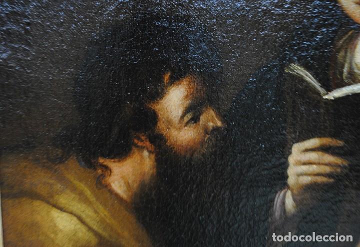 Arte: ÓLEO SOBRE LIENZO SAN JOSÉ Y NIÑO SIGLO XVIII - Foto 8 - 163482006