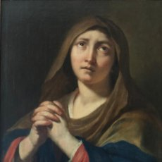 Arte: TALLER DE CARLO MARATTA - SIGLO 17 XVII MADONNA DOLOROSA, AUTÉNTICO OLEO ORIGINAL . Lote 163489278