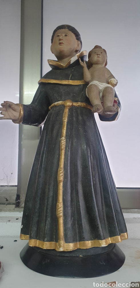 TALLA DE MADERA DE SAN ANTONIO SIGLO XVIII (Arte - Arte Religioso - Escultura)
