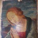 Arte: ANTIGUO OLEO SOBRE TABLA RELIGIOSO. Lote 163533094