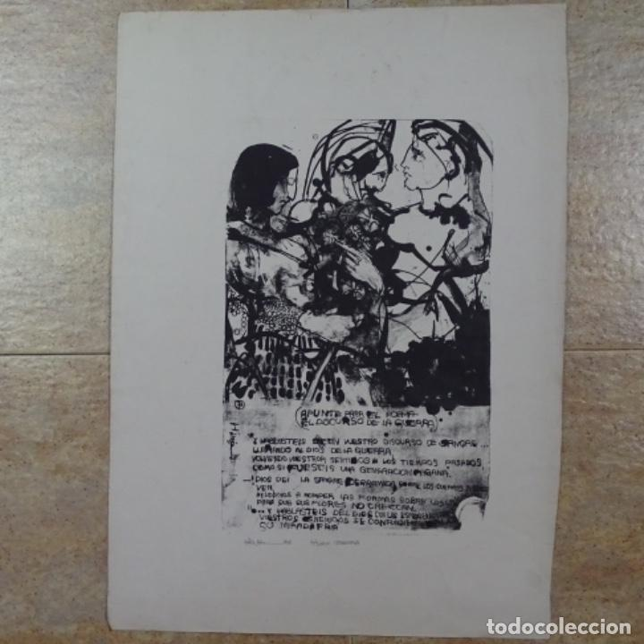 LITOGRAFÍA ILEGIBLE 2/3. (Arte - Arte Religioso - Litografías)