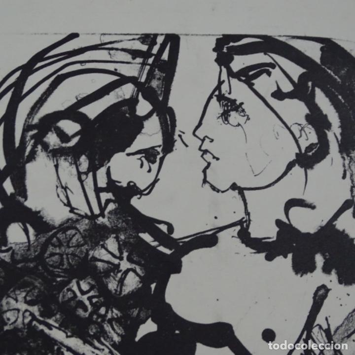 Arte: Litografía ilegible 2/3. - Foto 3 - 163605690