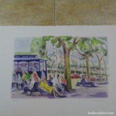 Arte: LITOGRAFÍA SIMO BUSOM.112/150. Lote 163607110