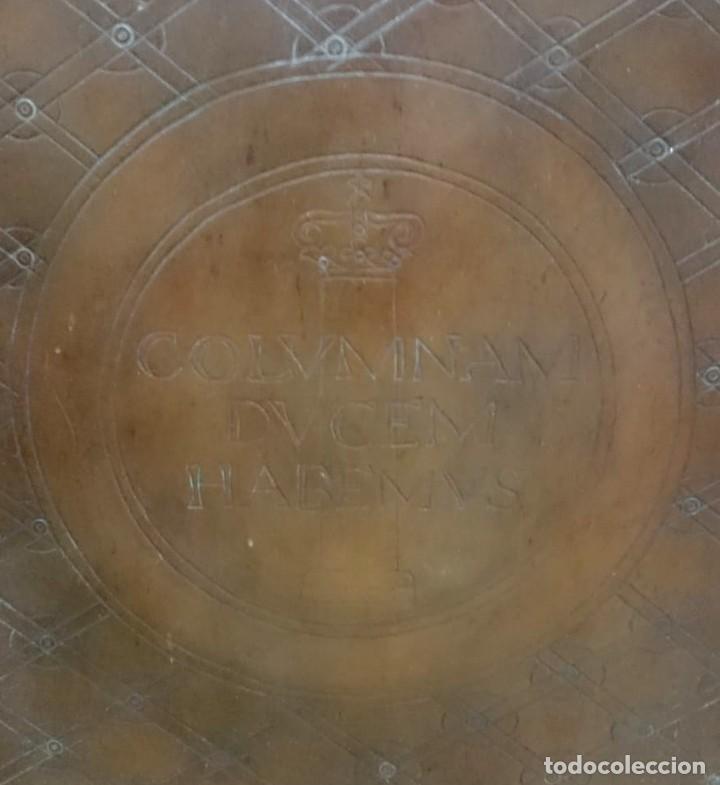 Arte: Triptico en cuero con la venida de la virgen del Pilar. - Foto 6 - 163610126