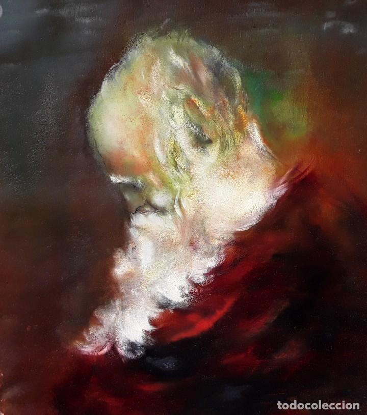 SAN PEDRO. OLEO/TELA DE PUJOL CARANDELL (Arte - Arte Religioso - Pintura Religiosa - Oleo)