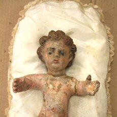 Arte: FANTASTICO NIÑO JESUS EN MADERA POLICROMADA. ¿SIGLO XVIII? . Lote 164140946