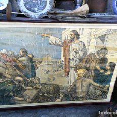 Arte: ANTIGUA LAMINA RELIGIOSA ENTELADA CON ESCENAS DE LA BIBLIA PINTOR C. SCHMAUK 91X66 CM,. Lote 164253102