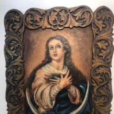 Art: OLEO SOBRE TELA DE LA VIRGEN PURISIMA CONCEPCIÓN. Lote 164582486